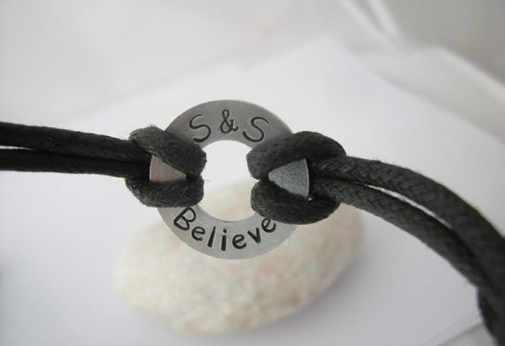 Secret Message Washer Bracelets for Him & Her