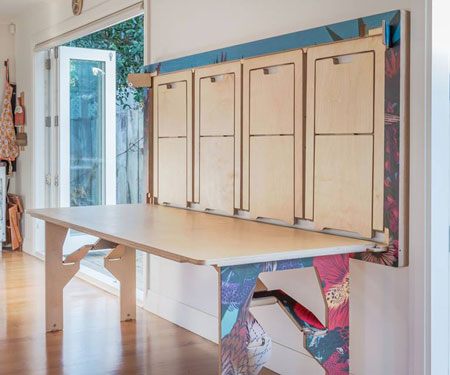 Space-Saving Table & Chairs System