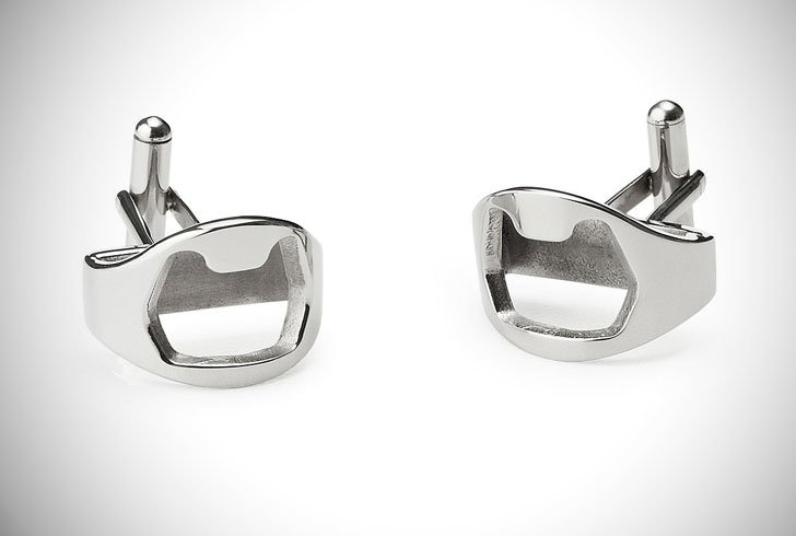 Stainless Steel Bottle Opener Cufflinks - cool cufflinks