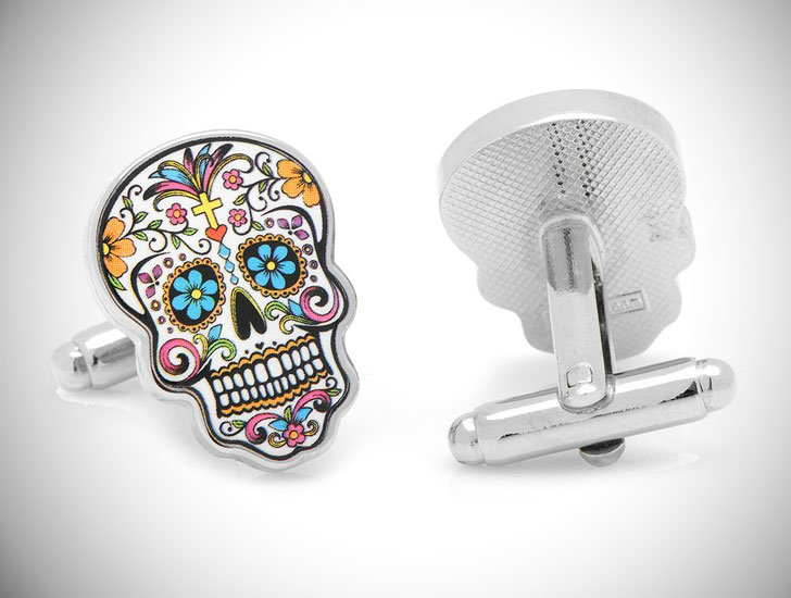 Sugar Skull Cufflinks - cool cufflinks