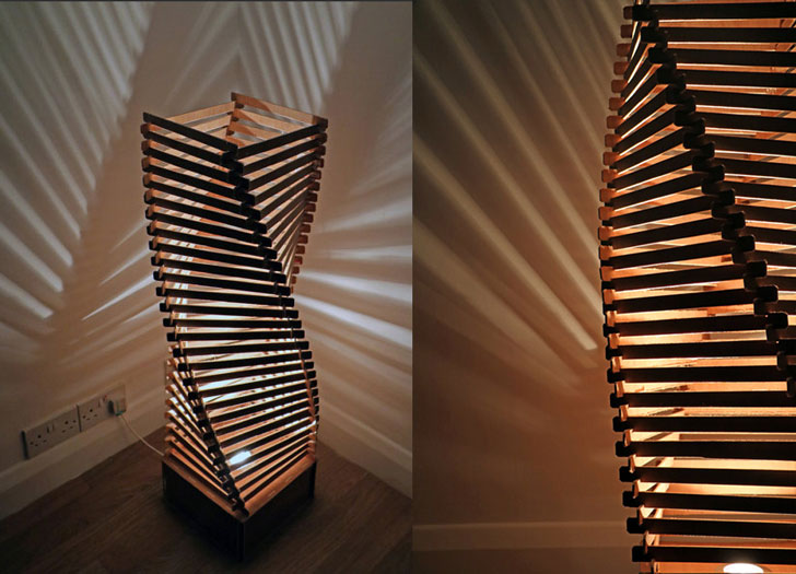 Surrey Woodsmiths Floor Lamp - cool floor lamps