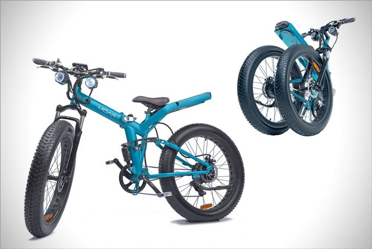 The Fat Tired Folding Frame Moar E-Bike - cool e-bikes