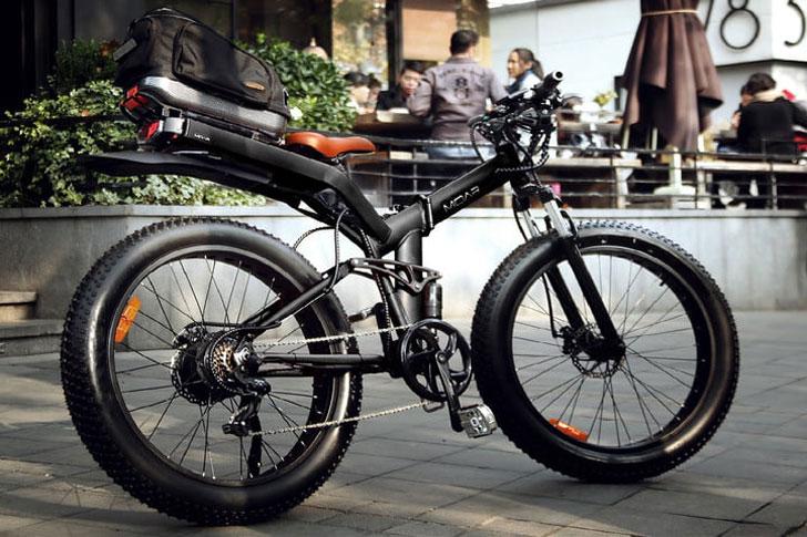 The Fat Tired Folding Frame Moar E-Bike - coolest electric bikes
