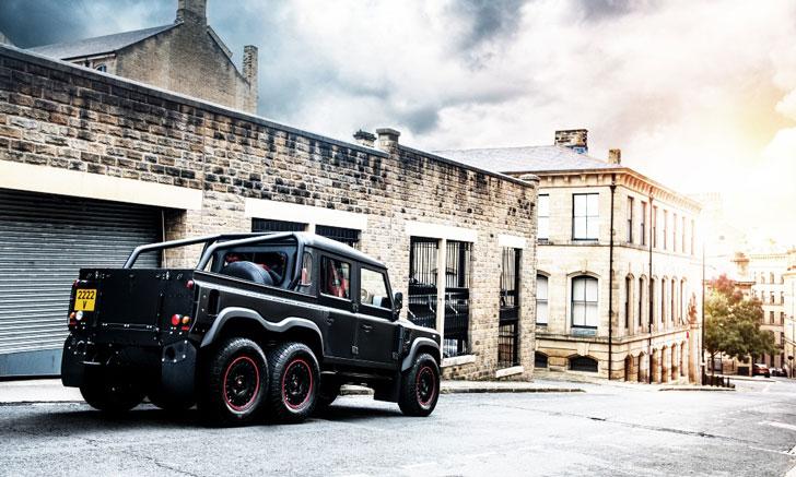 The Land Rover Defender Flying Huntsman 6x6 Pickup Truck