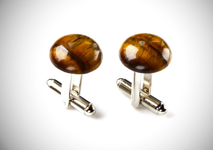 Tiger Eye Gemstone Cufflinks