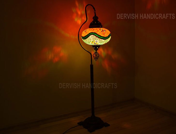 Turkish Mosaic Floor Lamp