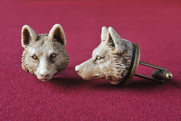 Victorian Style Handmade Wolf Man Cufflinks