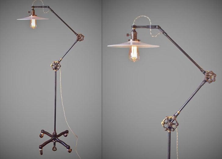 Vintage Industrial Steampunk Style Floor Lamp