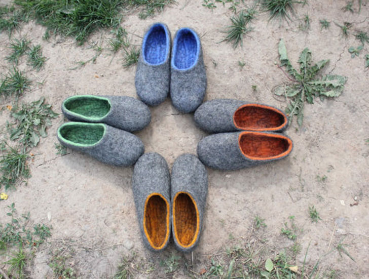 Womens Felted Slippers