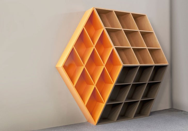 3D Illusion Rubik's Cube Bookcase