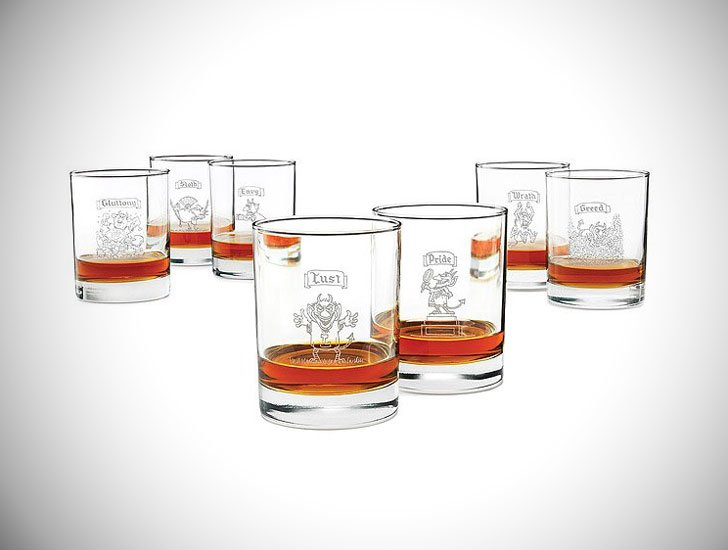 7 Deadly Sins Glass Set
