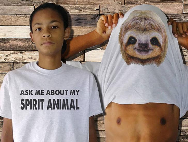 Ask Me about My Spirit Animal Sloth T-Shirt