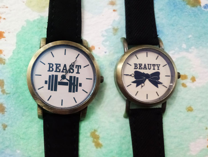 Beauty & Beast Watches for Couples Set