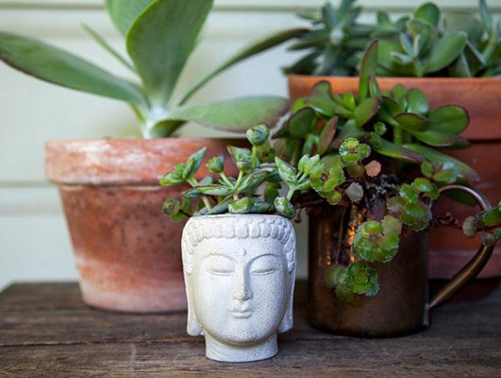 Buddha Head Planter Pots