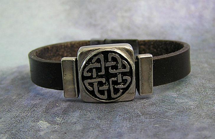 Celtic Love Knot Leather Bracelet