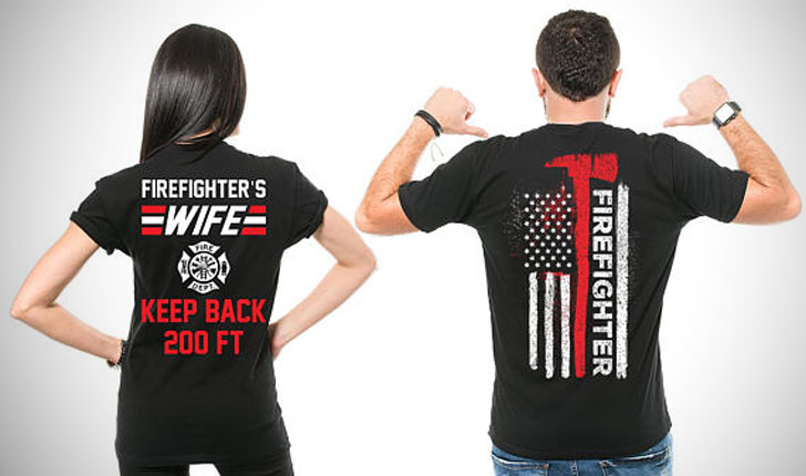 Couples Firefighters T-Shirts