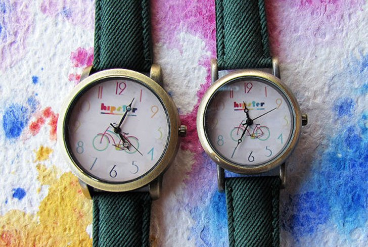 Couples Hipster Watch Set