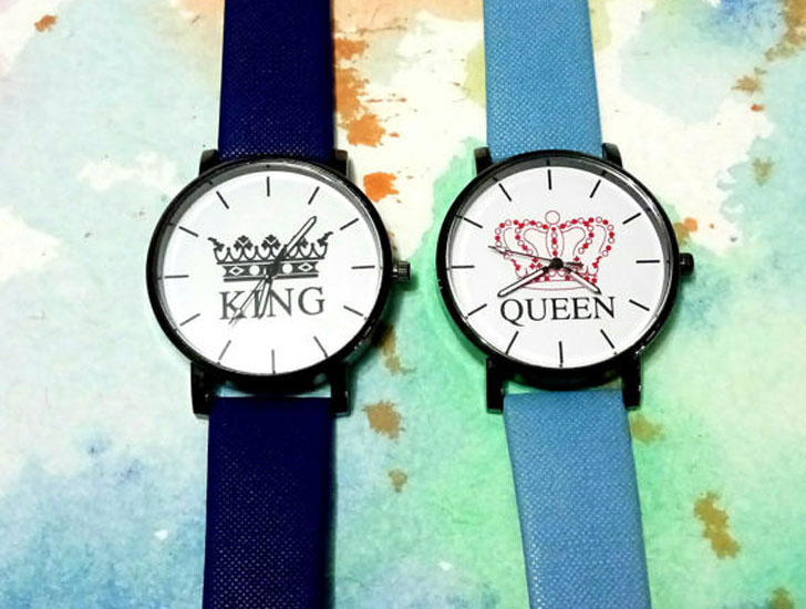 Couples King and Queen Watch Set
