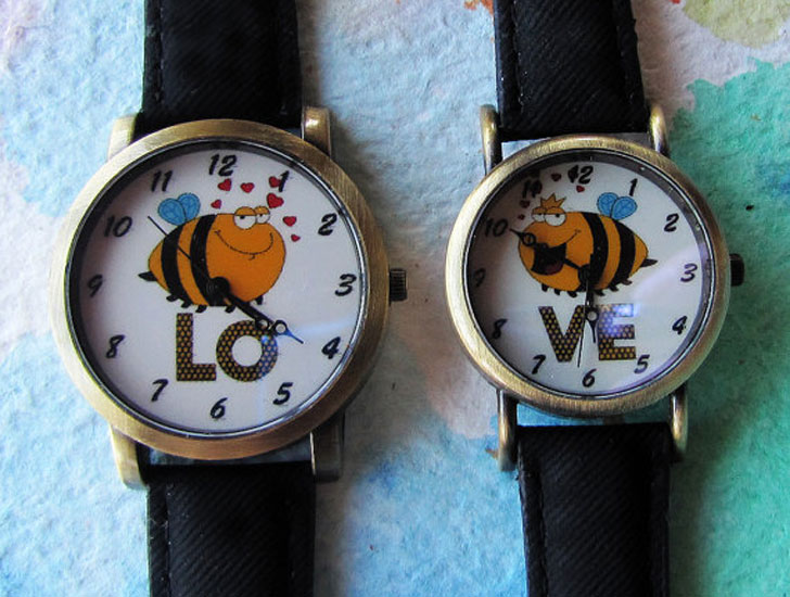 Couples Romantic Buzzy Bee Love Watches