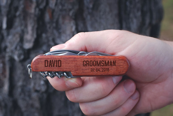 Custom Groomsmen Multi-Tool Pocket Knife