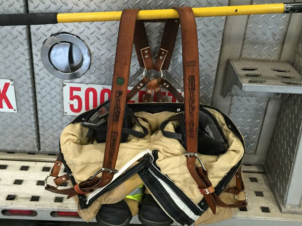 Custom Leather Firefighter Suspenders