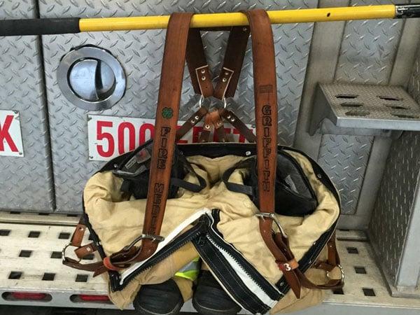 Custom Leather Firefighter Suspenders