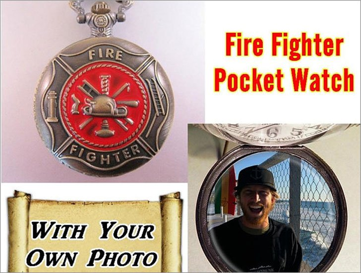 Custom Made Firefighters Pocket Watch