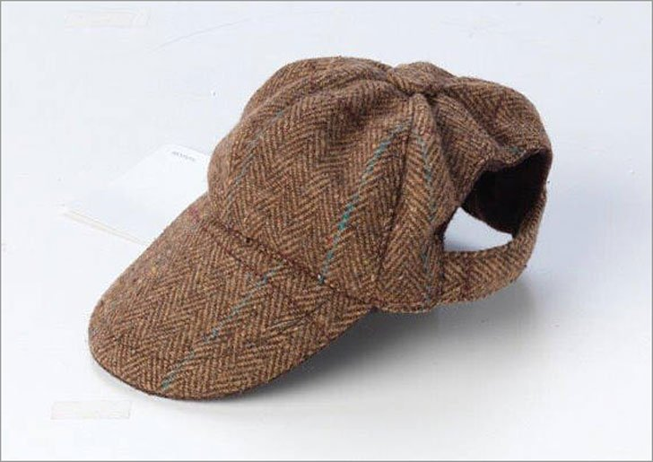 Dapper Brown Tweed Cap for Dogs