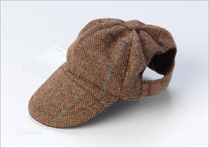 Dapper Brown Tweed Cap for Dogs