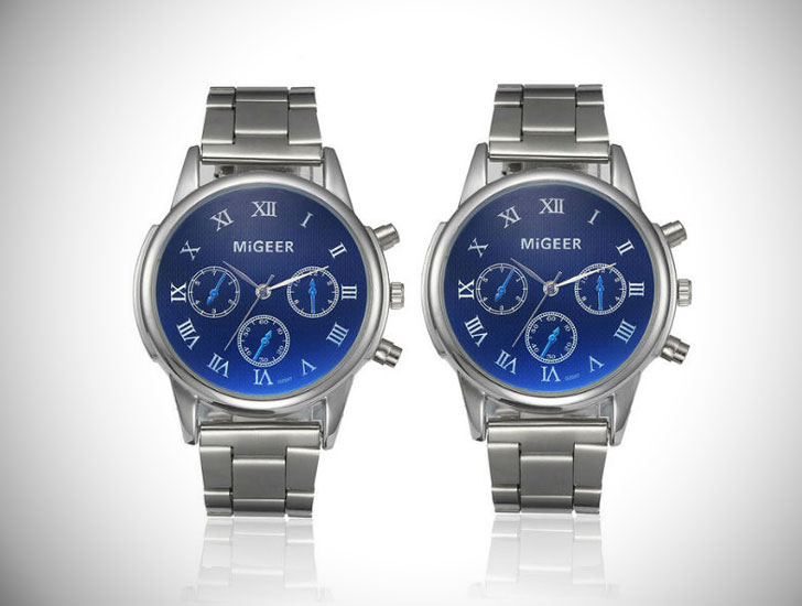 Deep-Blue-Sea-Silver-Matching-Watch-for-Couples