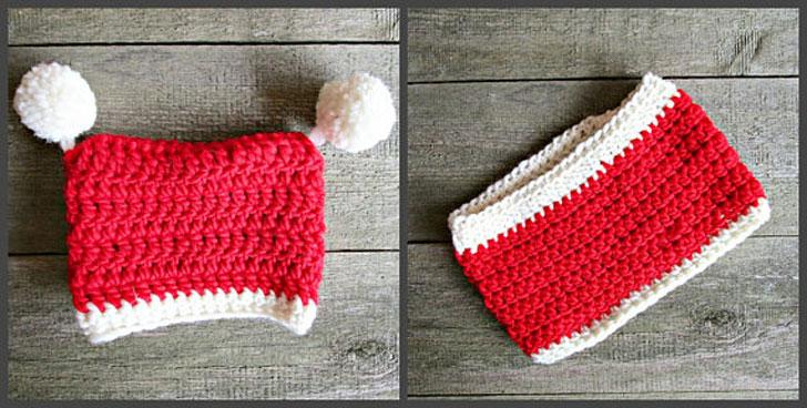 Dog Christmas Scarf Hat