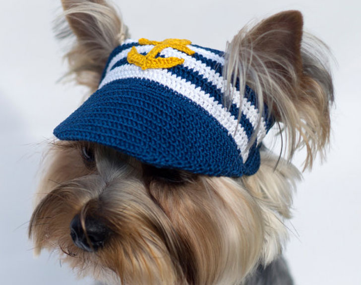 Dog's Crochet Anchor Baseball Cap