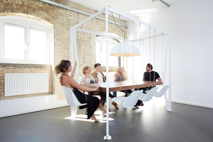 Duffy London Swing Table - Unique dining tables