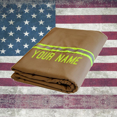 Firefighter Turn-out Gear Tan Station Blanket