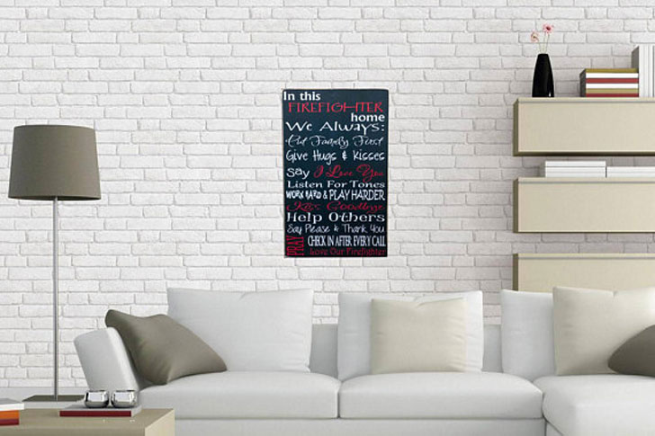 Firefighters Home Decor Wall Sign