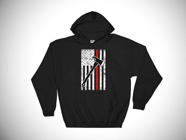 Firefighters Thin Red Line Hoodie