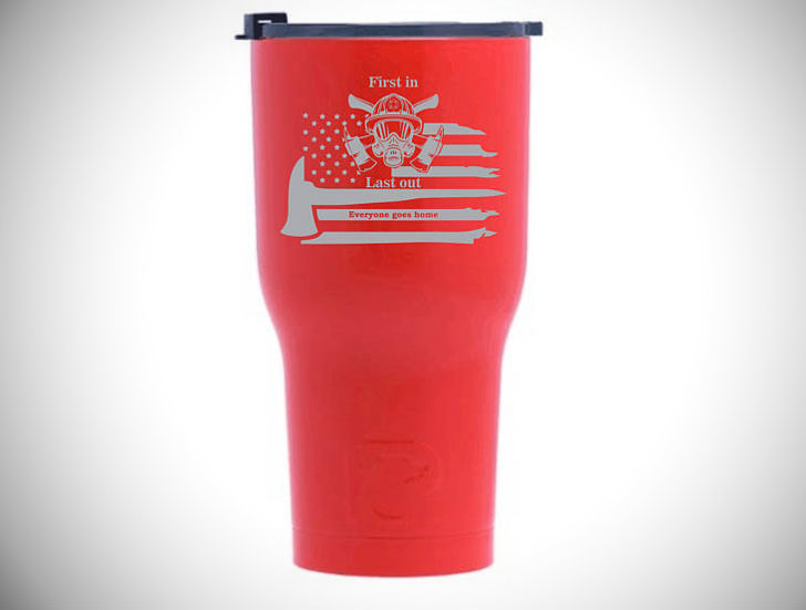 Firemans Stainless Steel Travel Mug