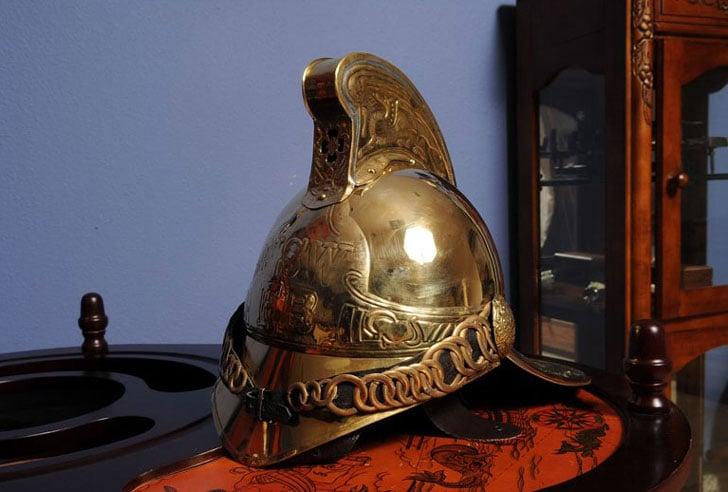 Firemen Helmet Sculpture