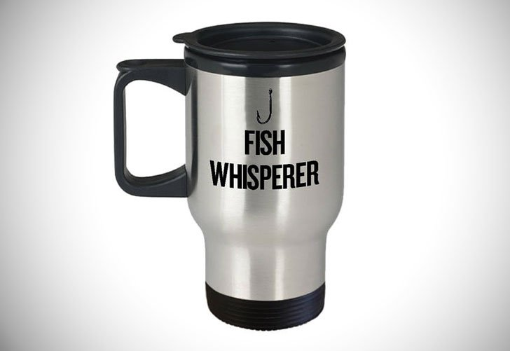 Fish Whisperer Fishing Travel Mug