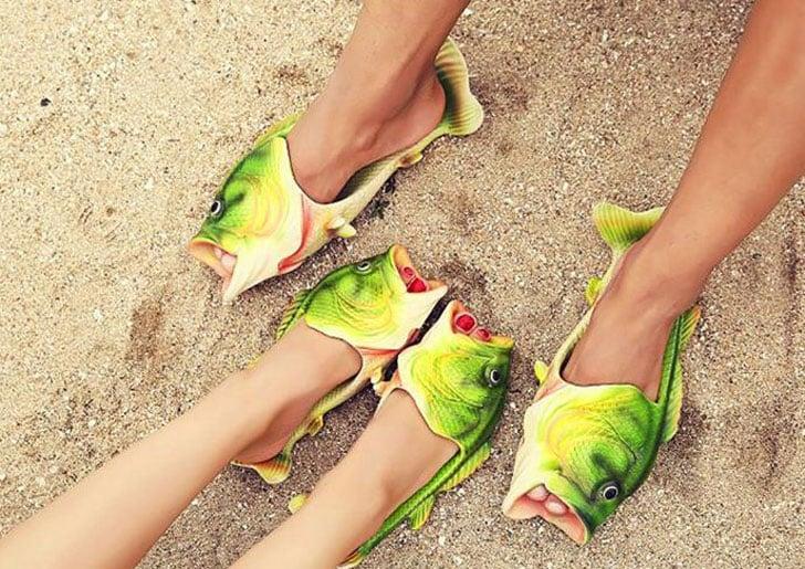 Funny Fish Flip Flops