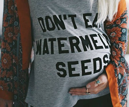 Funny Watermelon Seed Pregnancy Shirt