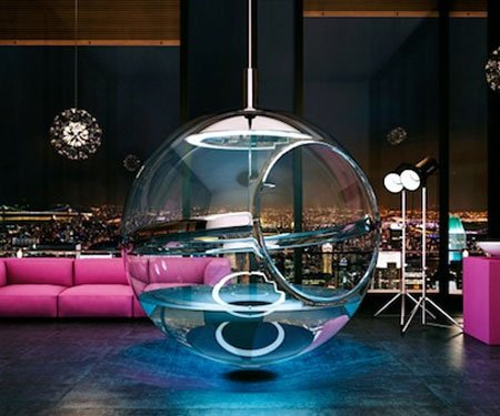 Glass Sphere Bathtub