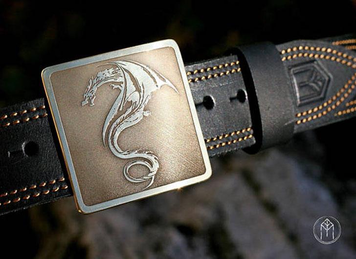 Golden Dragon Design Belt