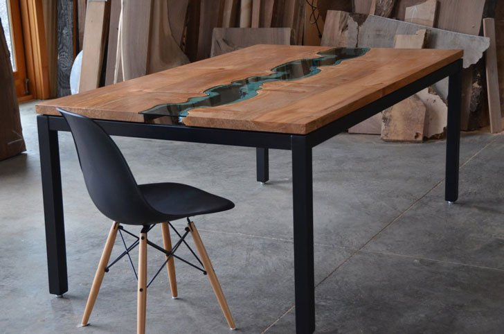 Greg Klassen Maple River Dining Table - Unique dining tables
