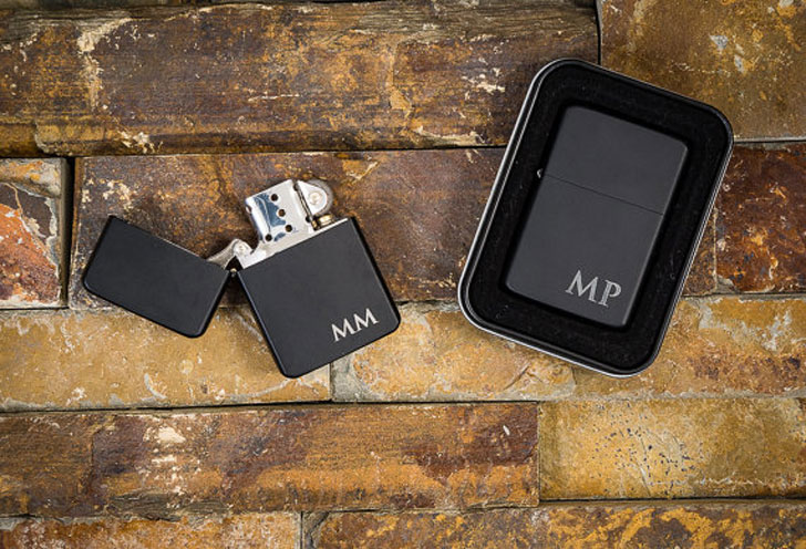 Groomsmen Personalised Lighter Sets
