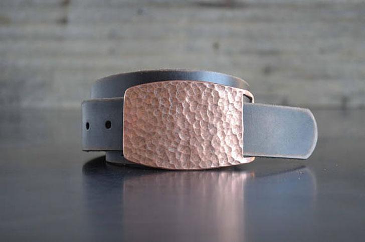 Hammered Copper Belt