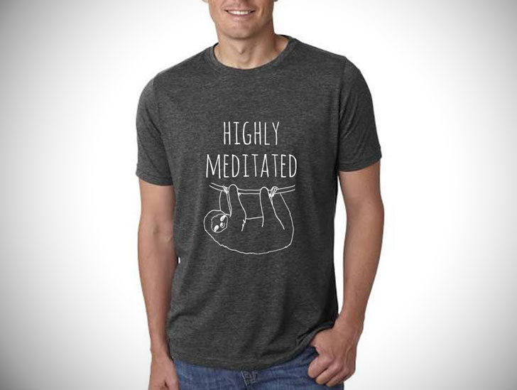 Highly Meditated Mens Sloth T-Shirt
