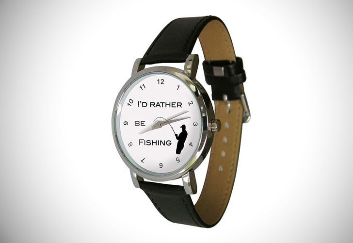 Id Rather Be Fishing Wristwatch
