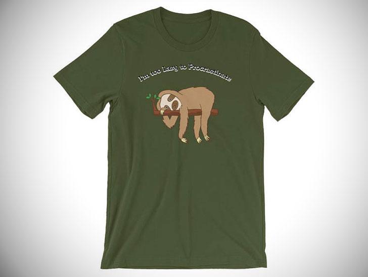 I'm Too Lazy to Procrastinate Sloth T-Shirt