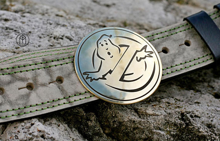 Leather Ghost Busters Belt